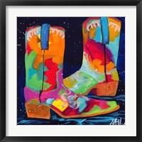 Framed Dueling Boots