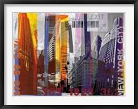 Framed New York Sky Urban