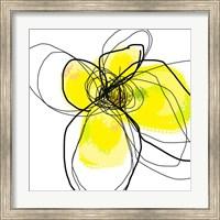 Framed Yellow Petals Three