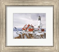 Framed Winter Lighthouse