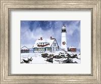 Framed Lighthouse In Winter