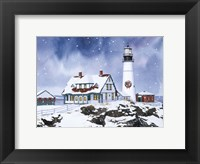 Framed Lighthouse In Winter