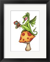 Framed Toadstool Sitter - Dragon