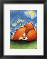 Framed Sweet Dreams Little Fox