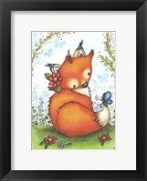 Little Fox in the Garden Framed Print