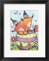Framed Happy Easter Little Fox