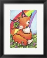 Framed Lucky Little Fox