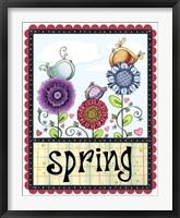 Framed Spring Birds