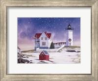 Framed Winter Lighthouse 2