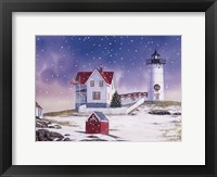 Framed Winter Lighthouse 2