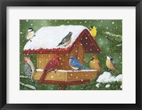 Framed Backyard Birds, Holiday Treats