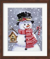 Framed Snowman With Tophat