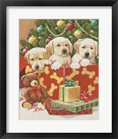 Framed Holiday Puppies