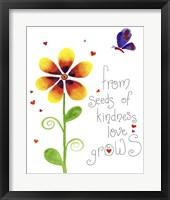 Framed Seeds of Kindness