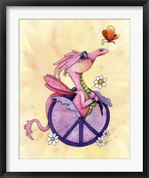 Framed Flower Power Dragon