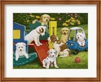 Framed Puppy Playground