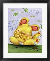Framed Blustery Bunny