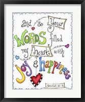 Framed Words of Joy - Joyful Words