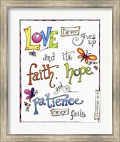 Framed Words of Love - Never Fails
