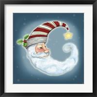 Framed Santa Moon