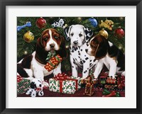 Framed Christmas Puppies 2