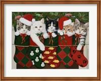 Framed Christmas Kittens