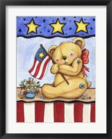 Framed Patriotic Bear