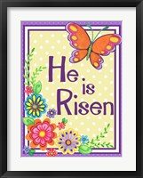 Framed He Is Risen Butterfly