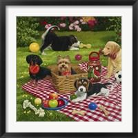 Framed Puppy Picnic