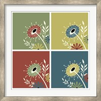 Framed Autumn Flowers