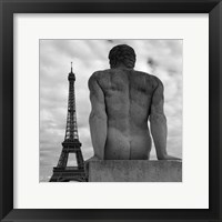 Framed Eiffel and Man