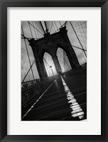 Framed Brooklyn Bridge Study I