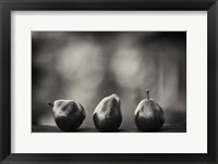 Framed Three Red Pears on the Precipice