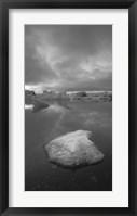 Framed Icebergs 1 Vertical B&W