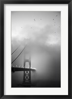 Framed Golden Gate and Birds