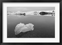 Framed Iceberg 2 B&W