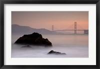 Framed Rocks And Golden Gate Bridge