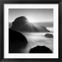 Framed Long sunset at Indian Beach