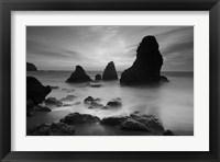 Framed Rodeo Beach I, Black and White
