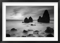 Framed Rodeo Beach II, Black and White