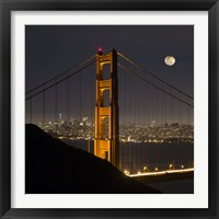 Framed Golden Gate and Moon