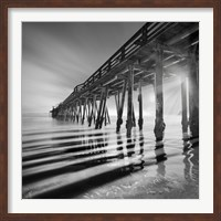 Framed Pier and Shadows
