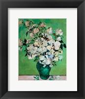 Framed Vase of Roses, 1890