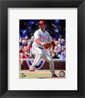 Framed Cliff Lee on field 2014