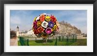 Framed Flower tree sculpture at Place Antonin Poncet, Lyon, Rhone, Rhone-Alpes, France