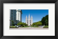 Framed Facade of a church, Mormon Temple, Temple Square, Salt Lake City, Utah