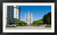 Framed Facade of a church, Mormon Temple, Temple Square, Salt Lake City, Utah