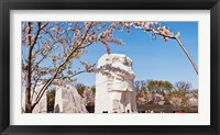 Framed Tourists at Martin Luther King Jr. National Memorial, Washington DC, USA