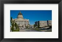 Framed Facade of a Government Building, Utah State Capitol Building, Salt Lake City, Utah