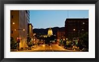 Framed Utah State Capitol Building at Night, Salt Lake City, Utah